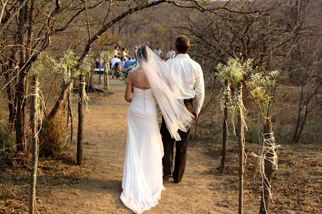 Wedding in the South African bush